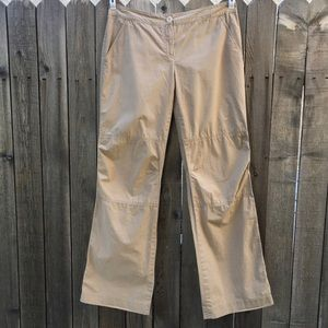 Theory Tan Straight Cargo Pants, Size 12